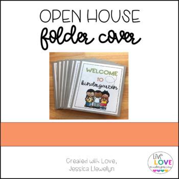 Open House Folder Cover for Kindergarten