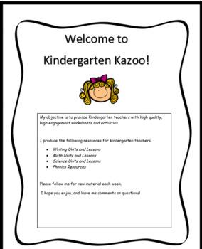 Welcome to Kindergarten Kazoo!