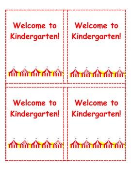 Welcome to Kindergarten Labels 3 3/4 x 4 3/4