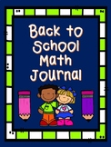 Welcome to Kindergarten Math Journal