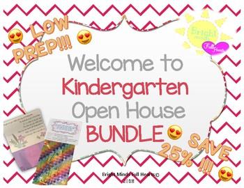 Welcome to Kindergarten Open House Bundle
