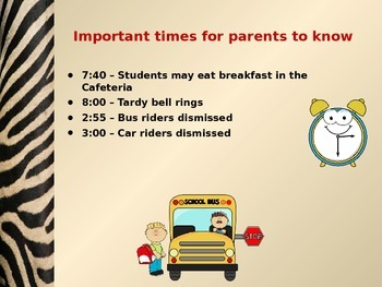 Welcome to Kindergarten Open House Parent Night Powerpoint