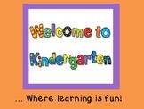 Welcome to Kindergarten! (K Registration/Open House)