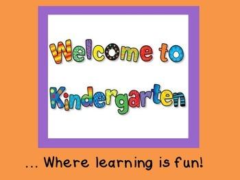Welcome to Kindergarten!  PPT