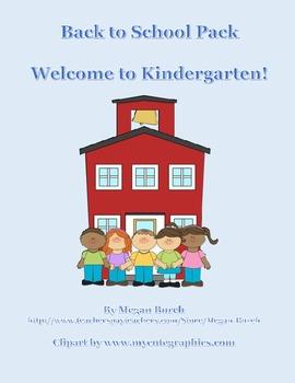 Welcome to Kindergarten Pack