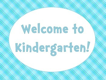 Welcome to Kindergarten Plaid Signs