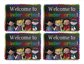 Welcome to Kindergarten Post Card