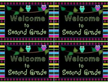 Welcome to Kindergarten-Sixth Grade Postcards Owl Theme