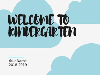 Welcome to Kindergarten Slideshow (Editable) (Rainbow & Cloud Theme)