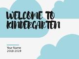 Welcome to Kindergarten Slideshow (Editable) (Rainbow & Cl