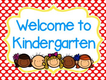 Welcome to Kindergarten (Smartboard Sign)