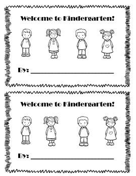 Welcome to Kindergarten Student Book