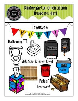 Welcome to Kindergarten Treasure Hunt (png. file)