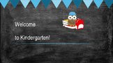Welcome to Kindergarten boy postcard
