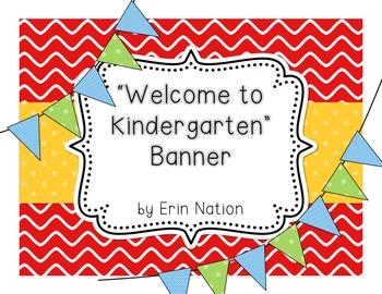 """""""Welcome to Kindergarten"""" pennant Banner"""