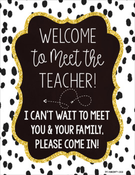 Welcome to Meet the Teacher Night Sign!