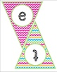 """""""Welcome to Music"""" Pennant Banner- Bright Chevrons"""