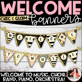 Welcome to Music! Piano! Choir! Band! Pennant Banner {Chic & Glam}