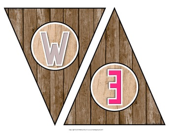 Welcome to Music! Piano! Choir! Band! Welcome Banner {Rustic Wood & Owls}