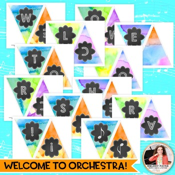 Welcome to Music! Piano! Choir! Band! Welcome Banner {Watercolor Music Decor}
