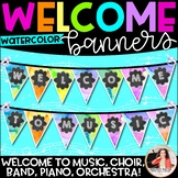 Welcome to Music! Piano! Choir! Band! Welcome Banner {Wate