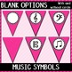 Welcome to Music! Pink Diagonals Pennant Banner