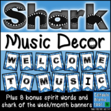 Welcome to Music Posters: Music Bulletin Board Set - Shark Theme