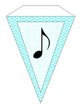 Welcome to Music: Teal Chevron Banner