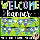 Welcome to Music! Piano! Choir! Band! Pennant Banner {Brig