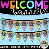 Welcome to Music! Piano! Choir! Band! Welcome Banner {Chal