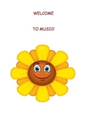 """Welcome to Music"" sign to hang on the entrance to your room.  (Poster)"