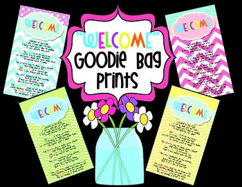 """Welcome to My Class"" Goodie Bag Prints!"