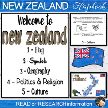 New Zealand Flapbook and Map