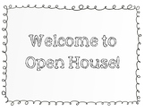 Welcome to Open House Poster