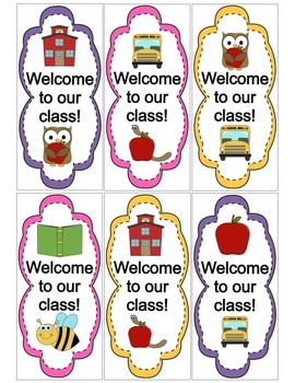 """Welcome to Our Class"" Book Markers"