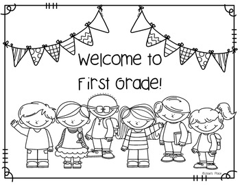 first day coloring pages for second grade | Welcome to Our Class Coloring Sheet FREEBIE by Josie's ...