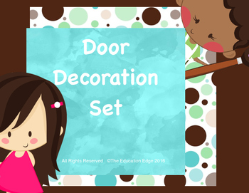 Welcome to Our Class Door Decoration Set Aqua Dots