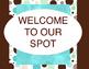 Welcome to Our Class Door Decoration Set Aqua Dots