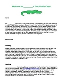 Welcome to Our Class - Introduction Information Letter