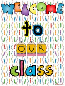 Welcome to Our Class Poster