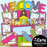 Welcome Banner + Display {Cute School Kiddos}
