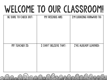 Welcome to Our Classroom Class Book
