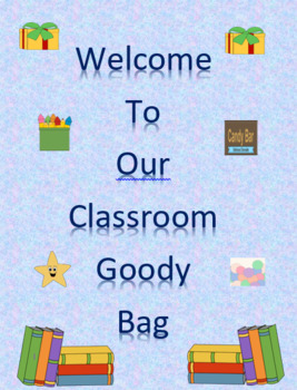 Welcome to Our Classroom Goody or Gift Bag