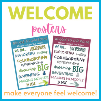 Welcome to Our Classroom Posters- Freebie!
