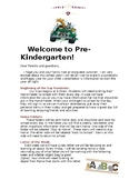 Welcome to Pre-K Letter