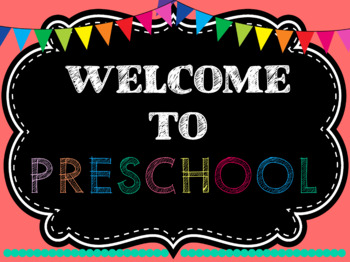 Welcome to Preschool Signs and Posters - Freebie