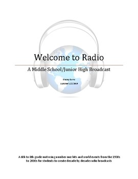 Welcome to Radio!  Student Created Broadcasts covering 1930-2000