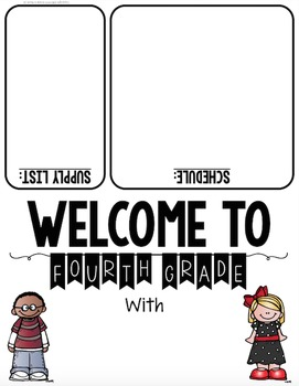 Welcome to School! An EDITABLE Back to School One-Page Handout