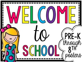 Welcome to School Basic Colors Poster Set