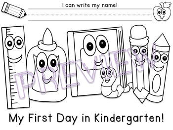 First Day of School Coloring